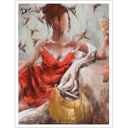 """Le murmure de son aile"" 80 x 60 (Oeuvre originale unique)."