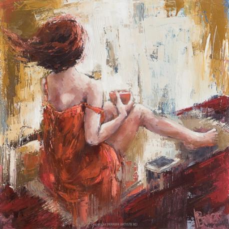 """""""Souffle intérieur"""" 50 x 50 (Oeuvre originale unique)."""