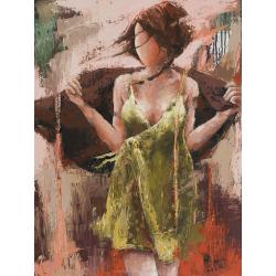 """""""L'intrigante"""" 80 x 60 (Oeuvre originale unique)."""