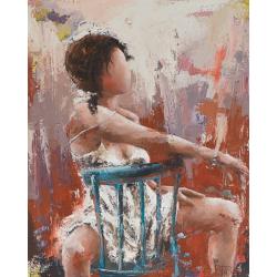 """Soleil couchant"" 80 x 65 (Oeuvre originale unique)."