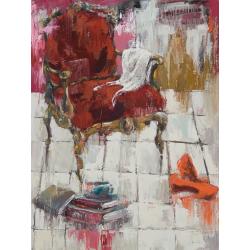 """L'invité"" 80 x 60 (Oeuvre originale unique)."
