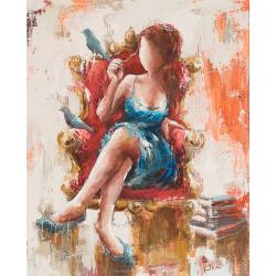"""""""Un tout petit rien"""" 80 x 65 (Oeuvre originale unique)."""