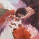 """""""A fleur de toi"""" 80 x 80 - (Oeuvre originale unique)."""